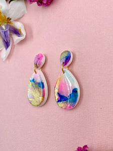 Painterly - Teardrop Dangle Earrings 1
