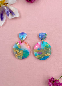 Painterly - Circle Statement Dangle