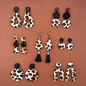 Wildside Animal Print - Arch Statement Earring