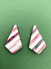 Load image into Gallery viewer, Modern Stripes - Diamond Oversized Stud