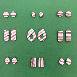 Modern Stripes - 1.5cm Circle Stud 1