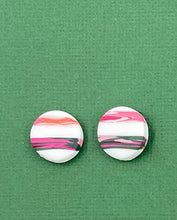 Load image into Gallery viewer, Modern Stripes - 1.5cm Circle Stud 1