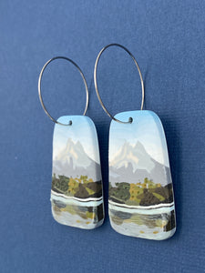 Mountain - Reflection in the Lake Oblong Hoops