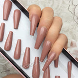 Gloss Nude Super Long Ballerina Coffin Nail Kit