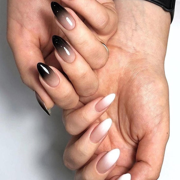 Black and white gradient French Manicure Nail Tips Kit