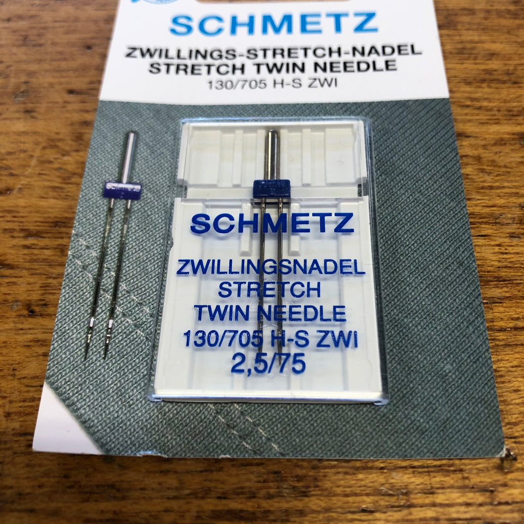 Schmetz Sewing Machine Needle - Stretch Twin Needle - 2.5/75