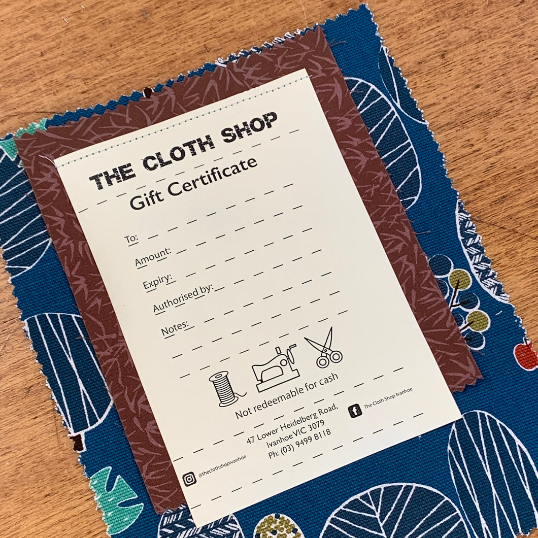 The Cloth Shop - Gift Card