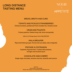 Long Distance Tasting Menu