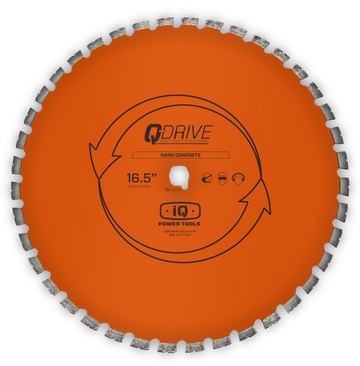 iQ 16.5″ Q-Drive Arrayed Segmented Hard Concrete Diamond Blade for iQMS362