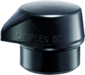 "Replacement Head for Simplex 60 Mallet ""Stand Up"" - Black Rubber"