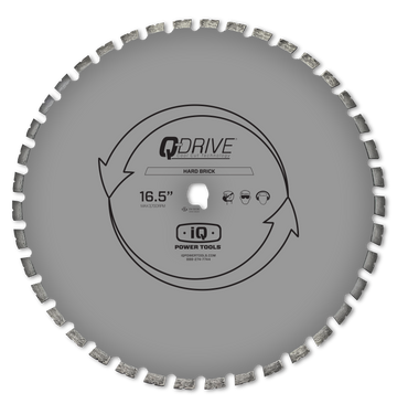 iQ 16.5″ Q-Drive Arrayed Segmented Hard Brick Diamond Blade for iQMS362
