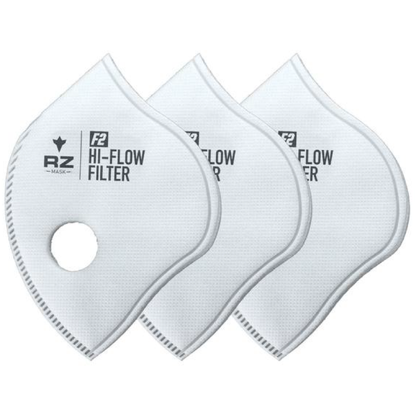 RZ Mask F2 High-Flow Replacement Filters - 3 pack - Large