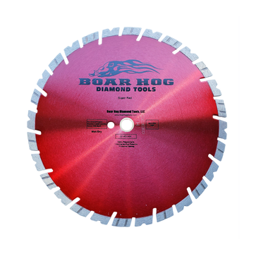 "Boar Hog 14"" x .125 General Purpose Blade - Super Red - 1""-20mm arbor"