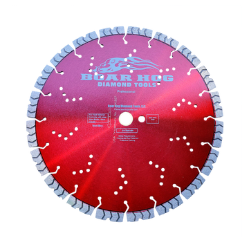 "Boar Hog 14"" x .125"" x 1""-20mm, Supreme Red - Professional Blade"