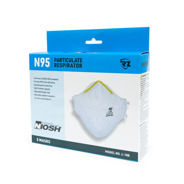 RZ Mask N95 Disposable - Box of 5 Masks - Foldable