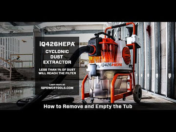 iQ426HEPA Cyclonic Dust Extractor with HEPA Filtration - FREE DELIVERY*