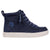 Baskets montantes enfant Faux Suede Navy- Billy Classic