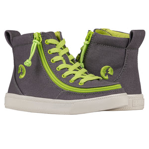 Baskets montantes enfant Charcoal Acid / Green- Billy Classic