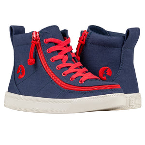 Baskets montantes enfant Navy Red - Billy Classic