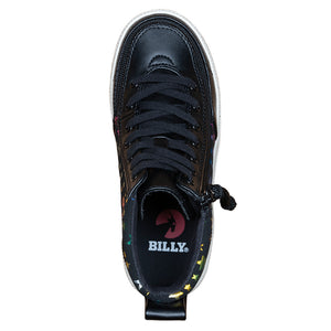Baskets montantes enfant Faux Cuir Black Stars - Billy Classic