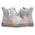 Baskets montantes enfant Faux Cuir Rainbow Crackle - Billy Classic