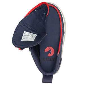 Baskets montantes bébé Navy red - Billy Classic