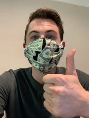 Floss boss designs money face mask