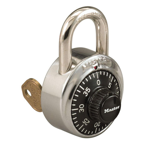 Model No. 1525 General Security Combination Padlock with Key Control Feature and Colored Dial 1-7/8in (48mm) Wide-1525-LockerLock.com