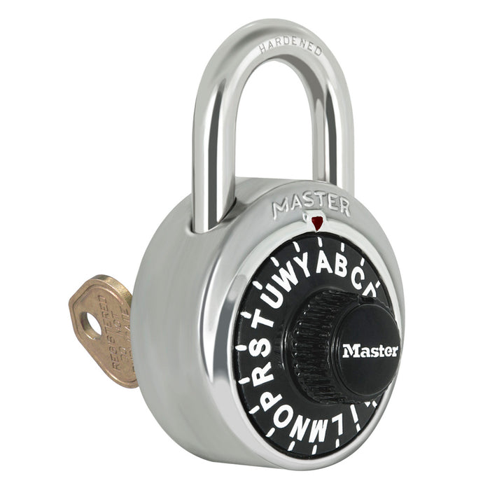 Master Lock 1585 General Security Combination Padlock with Key Control Feature 1-7/8in (48mm) Wide-Combination-LockerLock.com