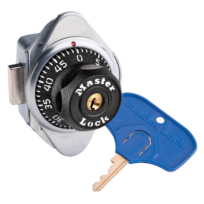 Master Lock 1676MKADA ADA Compliant Built-In Combination Lock with Metal Dial for Lift Handle and Single Point Horizontal Latch Lockers - Hinged on Right-Combination-LockerLock.com