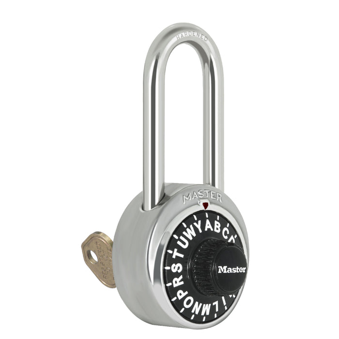 Master Lock 1585 General Security Combination Padlock with Control Key 1-7/8in (48mm) Wide
