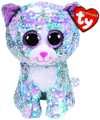 TY BEANIE BOOS FLIPPABLES WHIMSY THE CAT - Toyworld NZ