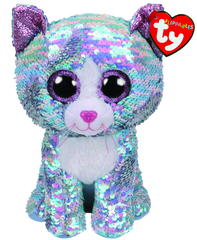 TY BEANIE BOOS FLIPPABLES WHIMSY THE CAT MEDIUM - Toyworld NZ