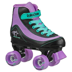 ROLLER DERBY FIRESTAR PURPLE/BLACK/MINT SKATES SIZE JR.12