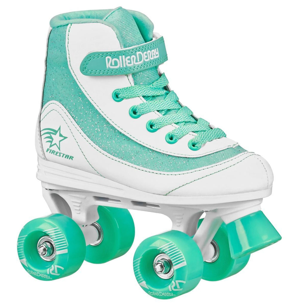 Roller Derby Firestar Mint/white Skates Size Jr13 - Toyworld