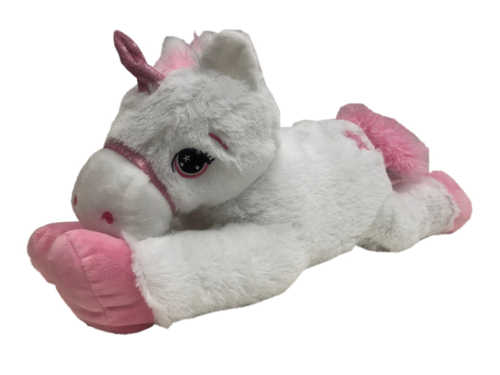STAR UNICORN PLUSH WHITE & PINK