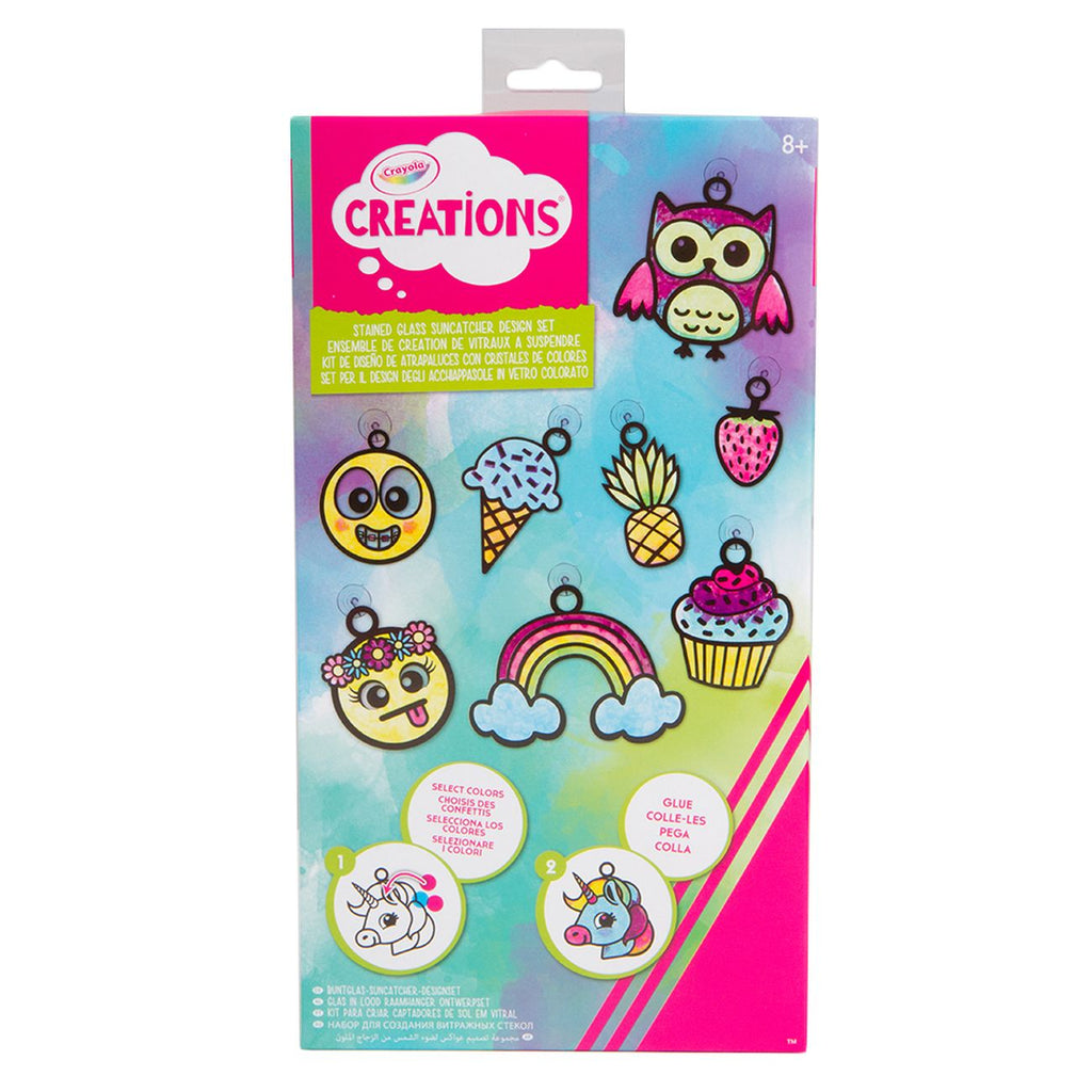 CRAYOLA CREATIONS STAINED GLASS SUNCATCHER DESIGN SET