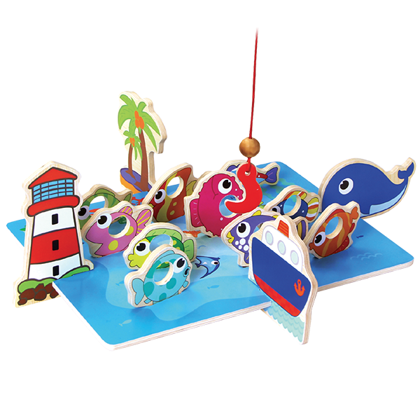 Little Moppet Wooden Fishing Game - Toyworld