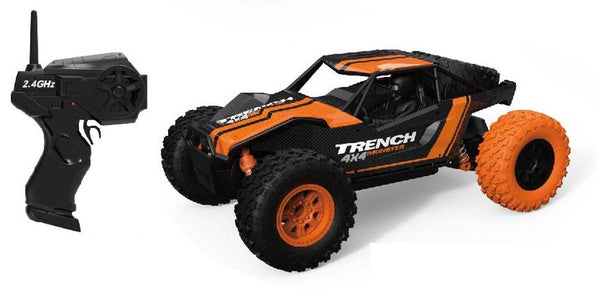 Remote Control Desert Truck Off Roader Black/orange - Toyworld