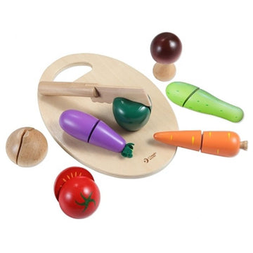 Classic World Wooden Cutting Vegetables - Toyworld