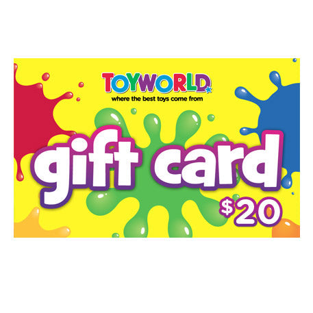 $20.00 TOYWORLD GIFT CARD