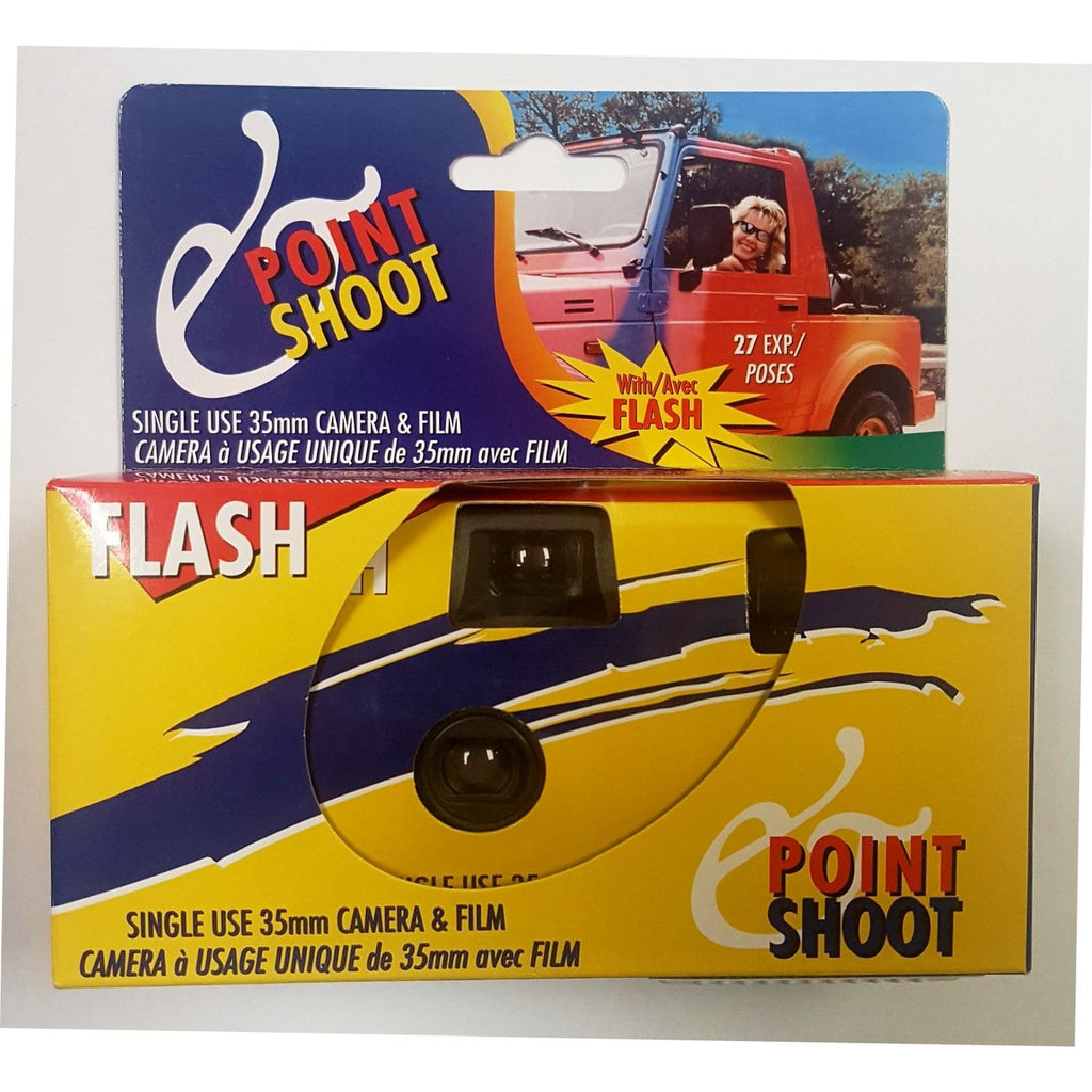 POINT SHOOT POCKET SHOT SINGLE USE CAMERA W/FLASH