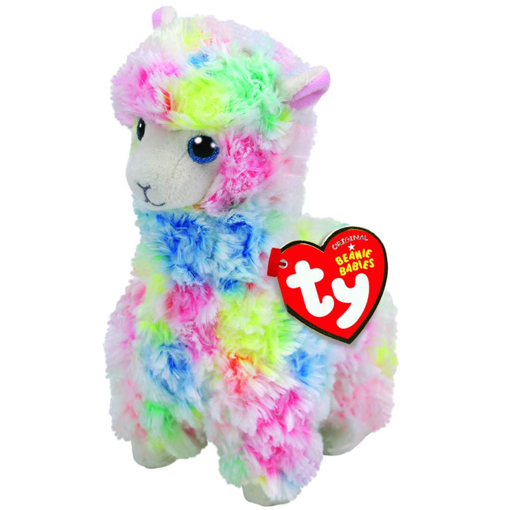 TY BEANIE BOOS LOLA THE MULTICOLOURED LLAMA