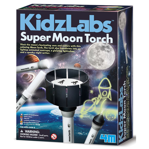 4M Kidz Labs Super Moon Torch - Toyworld