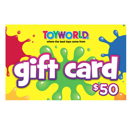 $50.00 TOYWORLD GIFT CARD