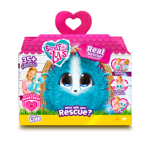 SCRUFF A LUVS REAL RESCUE SURPRISE INTERACTIVE PET BLUE
