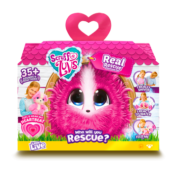 Scruff a Luvs Real Rescue Surprise Interactive Pet Pink - Toyworld