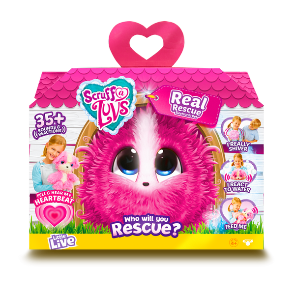 SCRUFF A LUVS REAL RESCUE SURPRISE INTERACTIVE PET PINK