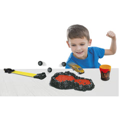 TEAMSTERZ SPEEDSTERZ LAVA SPLAT TRACK SET WITH YELLOW CAR