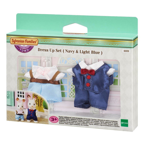 Sylvanian Families Town Dress Up Set (Navy & Light Blue) - Toyworld